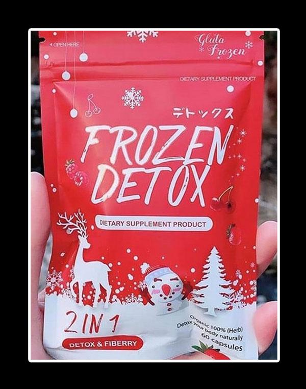 kemasan depan cara membedakan frozen detox asli dan palsu