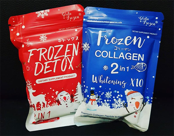 perbedaan frozen detox dan collagen 2in1